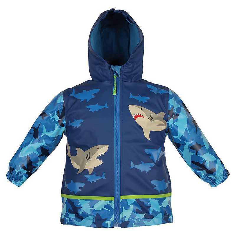 Stephen Joseph Shark All-Over Print Raincoat