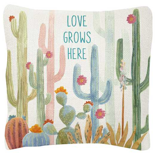 KA204832: Karma SQUARE PILLOWS CACTUS (S19)