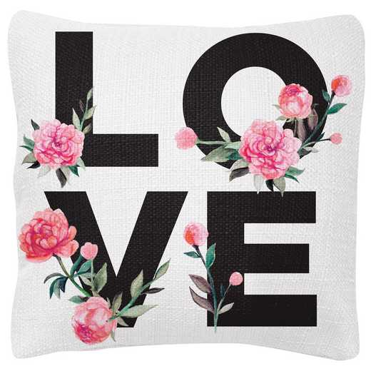 KA204838: Karma SQUARE PILLOWS PINK PEONY LOVE  (S19)