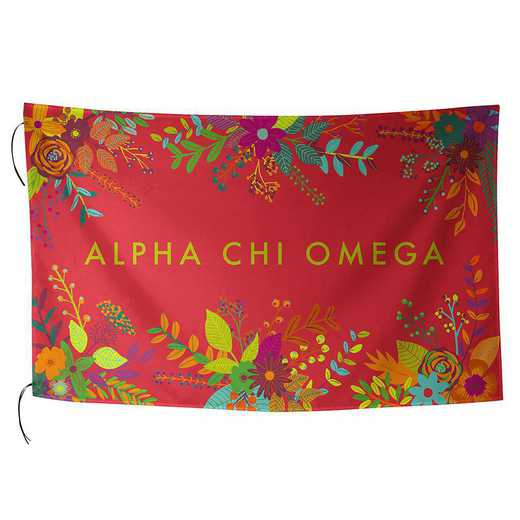 AA3018ACO: ALEX CO SUBLIMATED FLAG ALPHA CHI OMEGA
