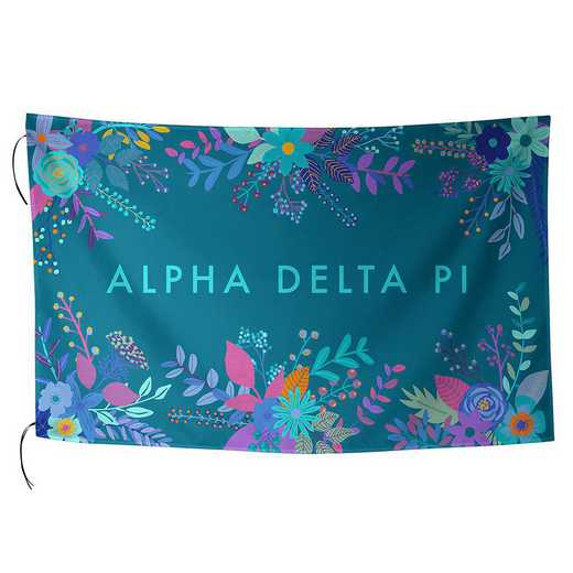 AA3018ADP: ALEX CO SUBLIMATED FLAG ALPHA DELTA PI