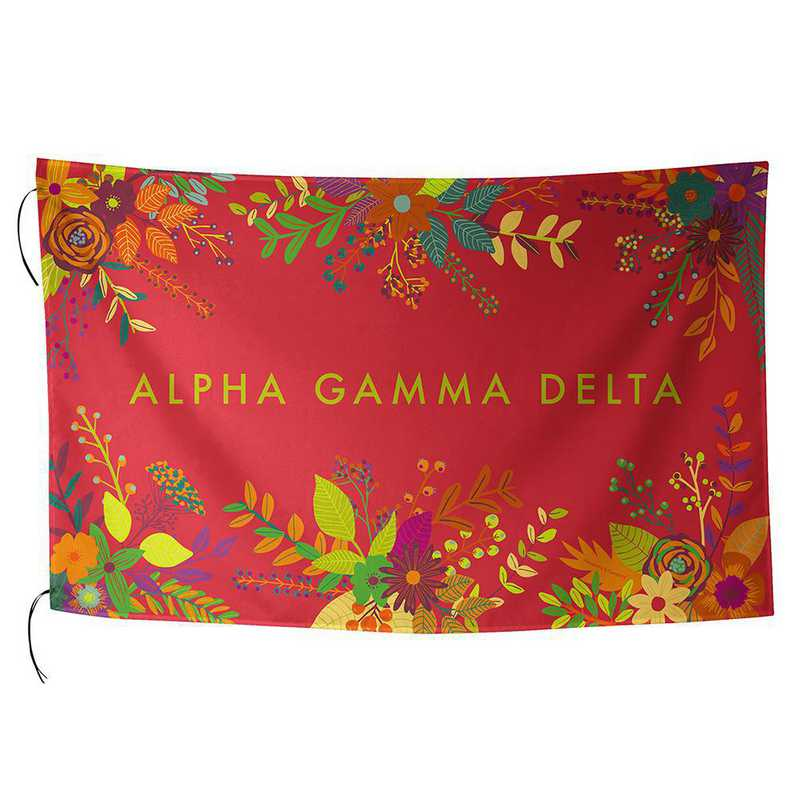 AA3018AGD: ALEX CO SUBLIMATED FLAG ALPHA GAMMA DELTA