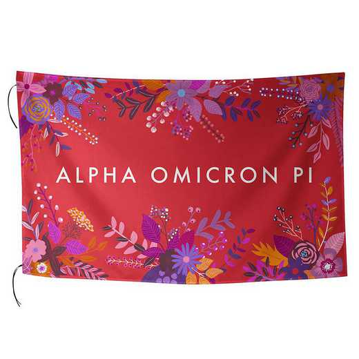 AA3018AOP: ALEX CO SUBLIMATED FLAG ALPHA OMICRON PI