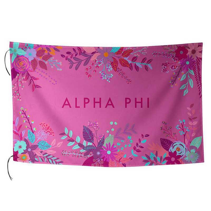AA3018AP: ALEX CO SUBLIMATED FLAG ALPHA PHI