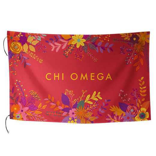 AA3018CO: ALEX CO SUBLIMATED FLAG CHI OMEGA