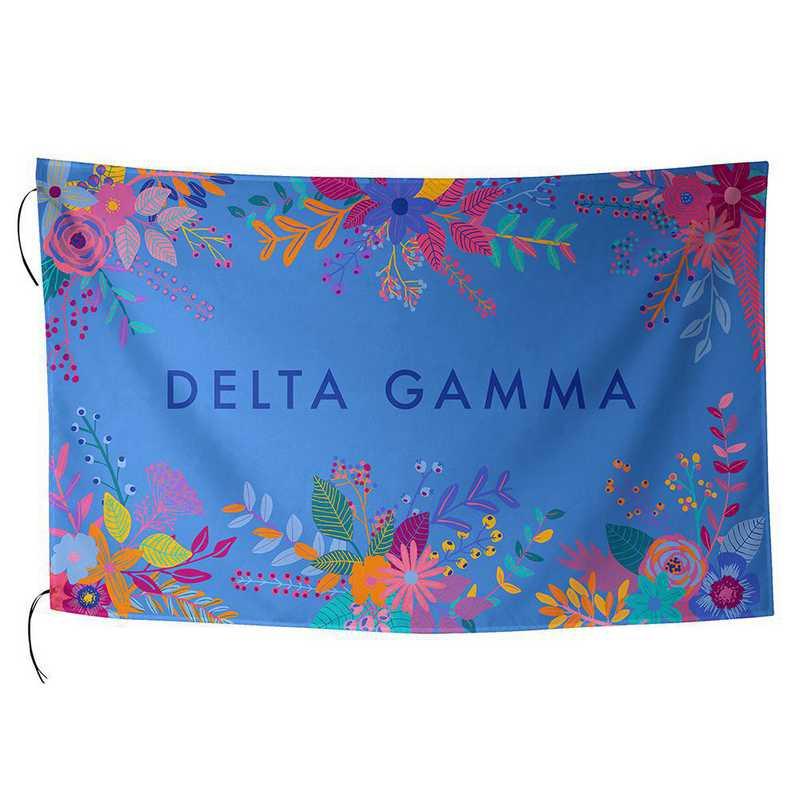 AA3018DG: ALEX CO SUBLIMATED FLAG DELTA GAMMA