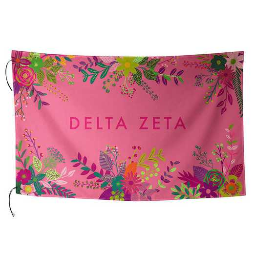 AA3018DZ: ALEX CO SUBLIMATED FLAG DELTA ZETA