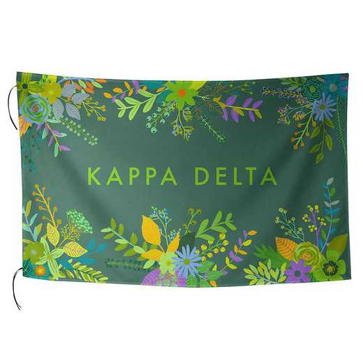 AA3018KD: ALEX CO SUBLIMATED FLAG KAPPA DELTA