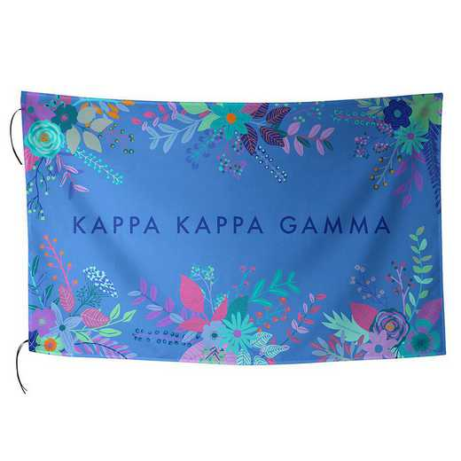 AA3018KKG: ALEX CO SUBLIMATED FLAG KAPPA KAPPA GAMMA