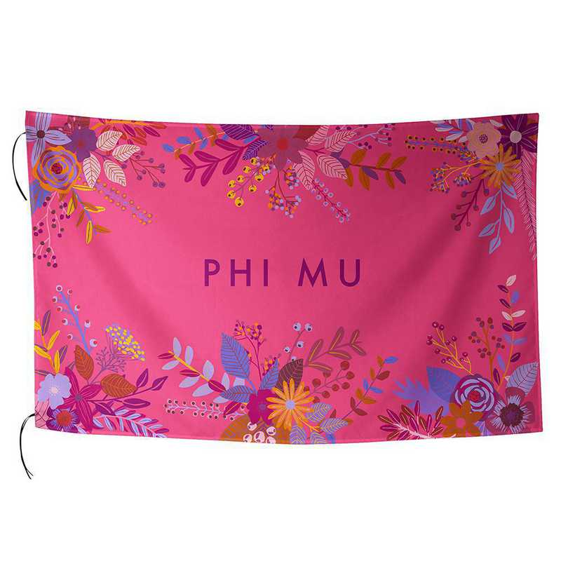 AA3018PM: ALEX CO SUBLIMATED FLAG PHI MU