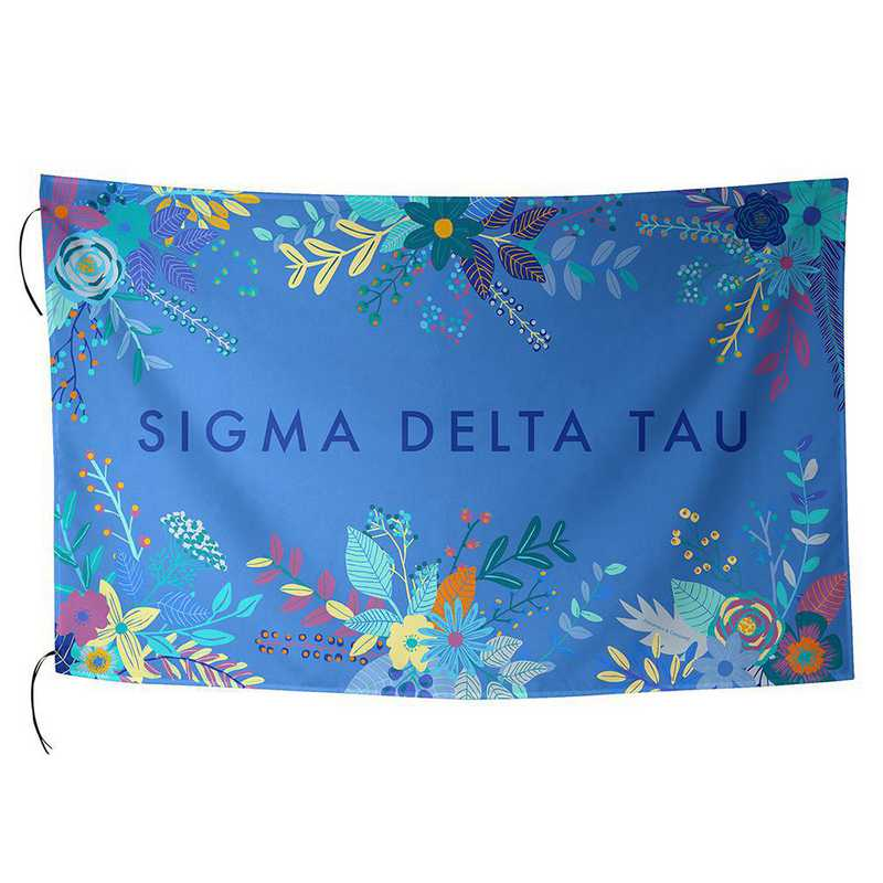 AA3018SDT: ALEX CO SUBLIMATED FLAG SIGMA DELTA TAU