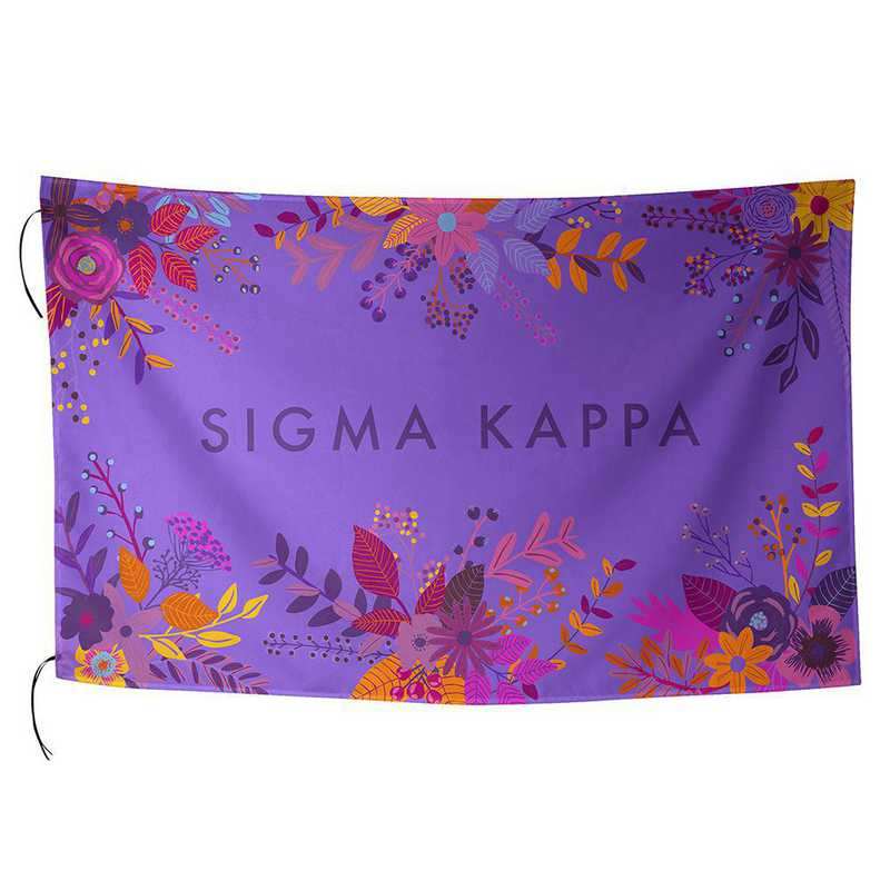 AA3018SK: ALEX CO SUBLIMATED FLAG SIGMA KAPPA