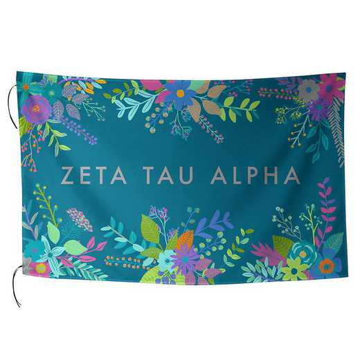 AA3018ZTA: ALEX CO SUBLIMATED FLAG ZETA TAU ALPHA