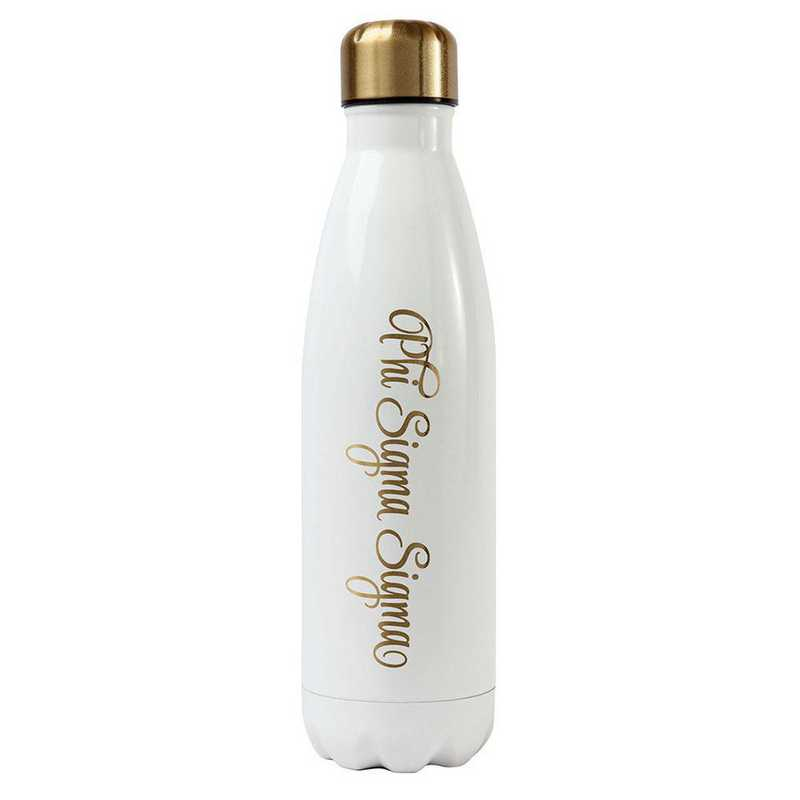 AA3001PSS: Alex Co SS WATER BOTTLE  PHI SIGMA SIGMA (F16)