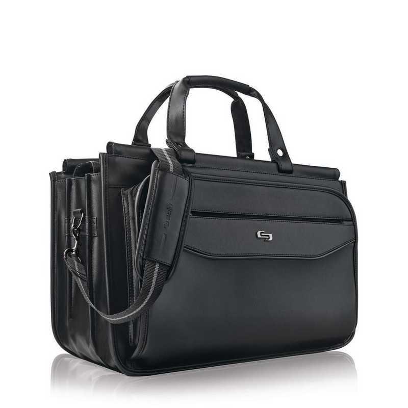 CLS346-4: Solo Harrison Triple compartment Briefcase