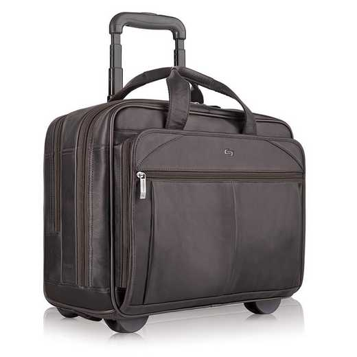 D529-3: Solo Walker Leather Rolling Case- Espresso