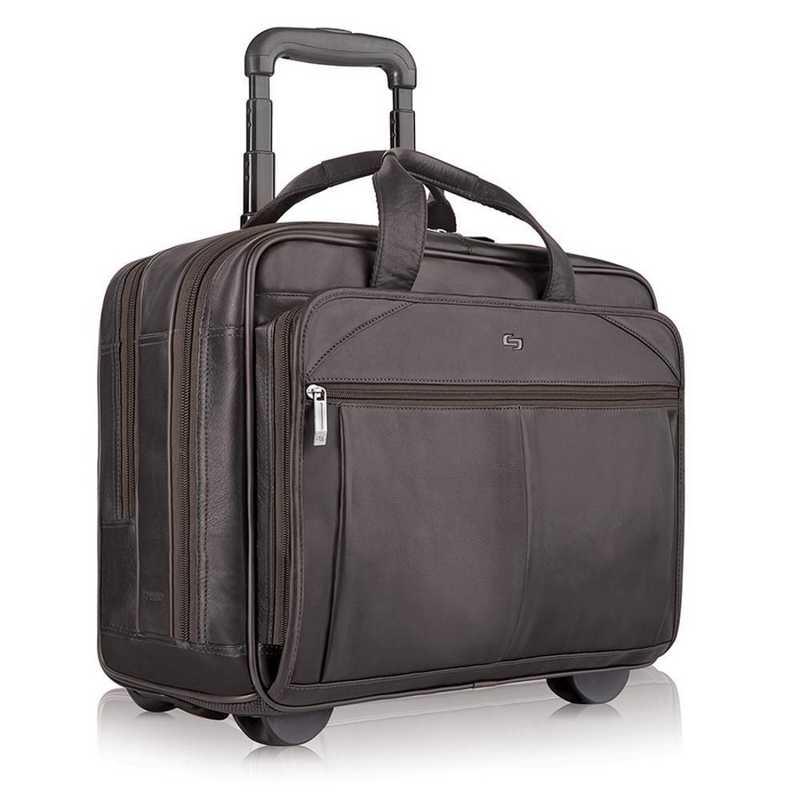 D529-3: Solo Walker Leather Rolling Case- Espresso