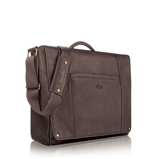 "VTA502-3: Solo Hudson 16""  Leather Messenger"