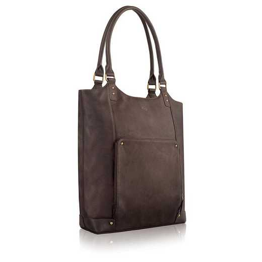 "VTA802-3: Solo Executive 15.6"" Leather Bucket Tote"