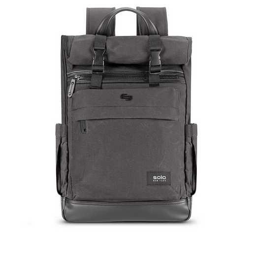 HLD701-23U2: Solo Cameron Rolltop Backpack- Ash