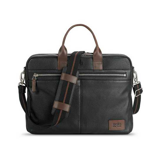 LEA300-4U2: Solo Shorewood Leather Briefcase
