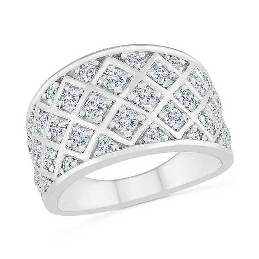 STERLING SILVER WITH 1CTTW DIAMOND FASHION BAND RING