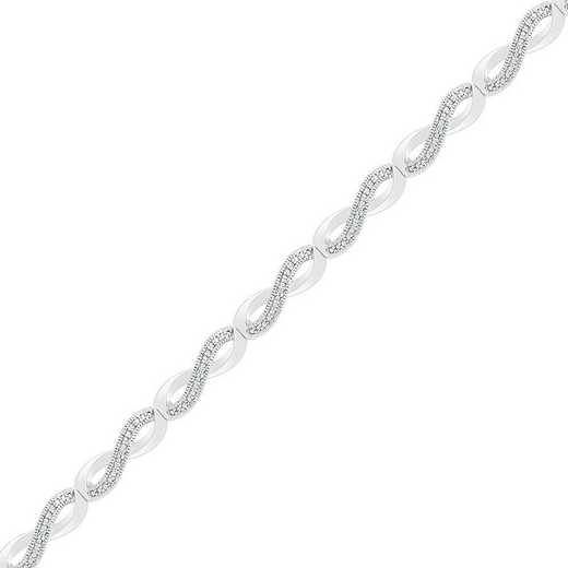 BF082864AAW: STERLING SILVER WITH DIAMOND ACCENT FASHION BRACELET