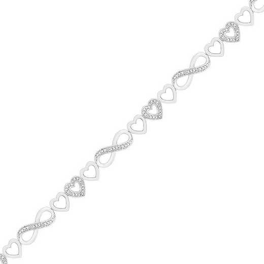 BH082357AAW: STERLING SILVER WITH DIAMOND ACCENT FASHION BRACELET