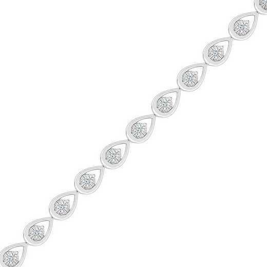 BN207600DAW: STERLING SILVER WITH 1/5CTTW DIAMOND FASHION BRACELET