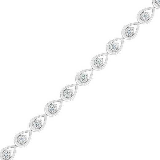 BN207600DAW: STERLING SILVER WITH 1/5CTTW DIAMOND FASHION BRACELET