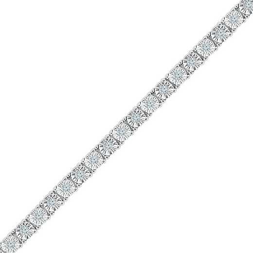 BT126474HAW: STERLING SILVER WITH 1/2CTTW DIAMOND FASHION BRACELET