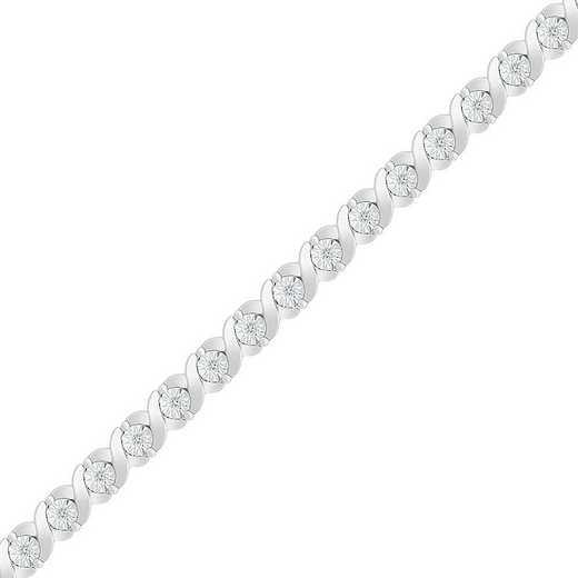 BT128268CAW: STERLING SILVER WITH 1/6CTTW DIAMOND FASHION BRACELET