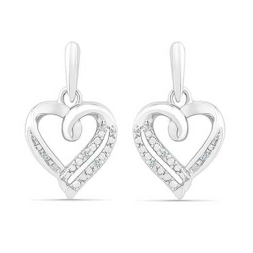 EF072835AAW: STERLING SILVER WITH DIAMOND ACCENT FASHION EARRING