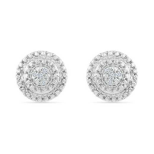 EF073018AAW: STERLING SILVER WITH DIAMOND ACCENT FASHION EARRING