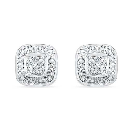 EF073991AAW: STERLING SILVER WITH DIAMOND ACCENT FASHION EARRING