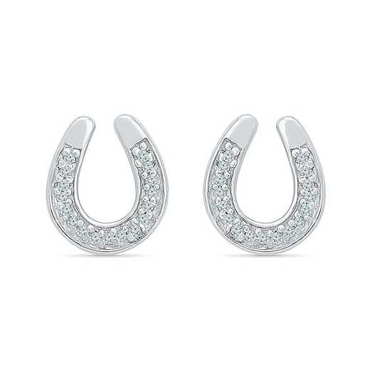 EF078474BAW: STERLING SILVER WITH DIAMOND ACCENT FASHION EARRING