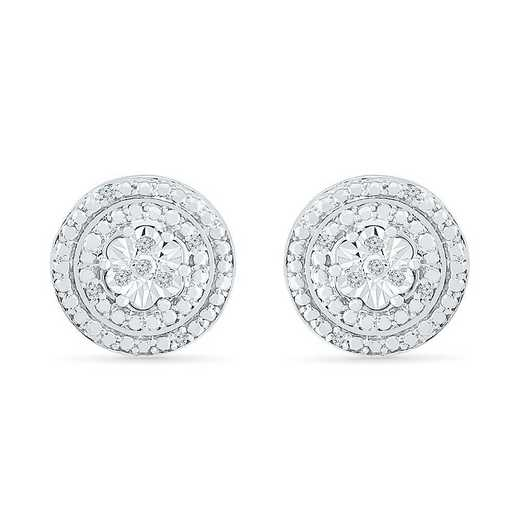 EF126006AAW: STERLING SILVER WITH DIAMOND ACCENT FASHION EARRING