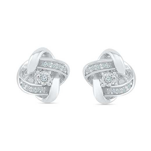 EF127166AAW: DIA ACCNT DIA SQUARE STUD EARRINGS