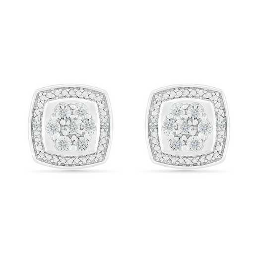 EF128837AAW: STERLING SILVER WITH DIAMOND ACCENT FASHION EARRING