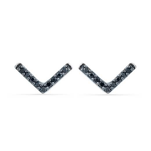 EF201877BAW B: 925 1/10CTTW BLK DIA ARROW EARRINGS