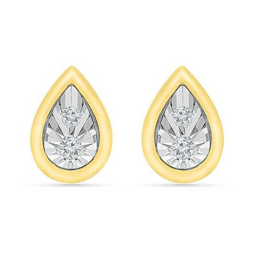 EF207401ATY: 10KT YELLOW GOLD WITH DIA ACCENT FASHION EARRING