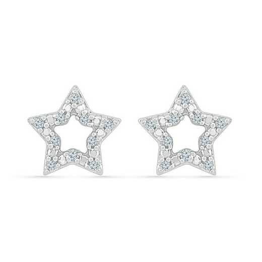EQ077574AAW: STERLING SILVER WITH DIAMOND ACCENT FASHION EARRING
