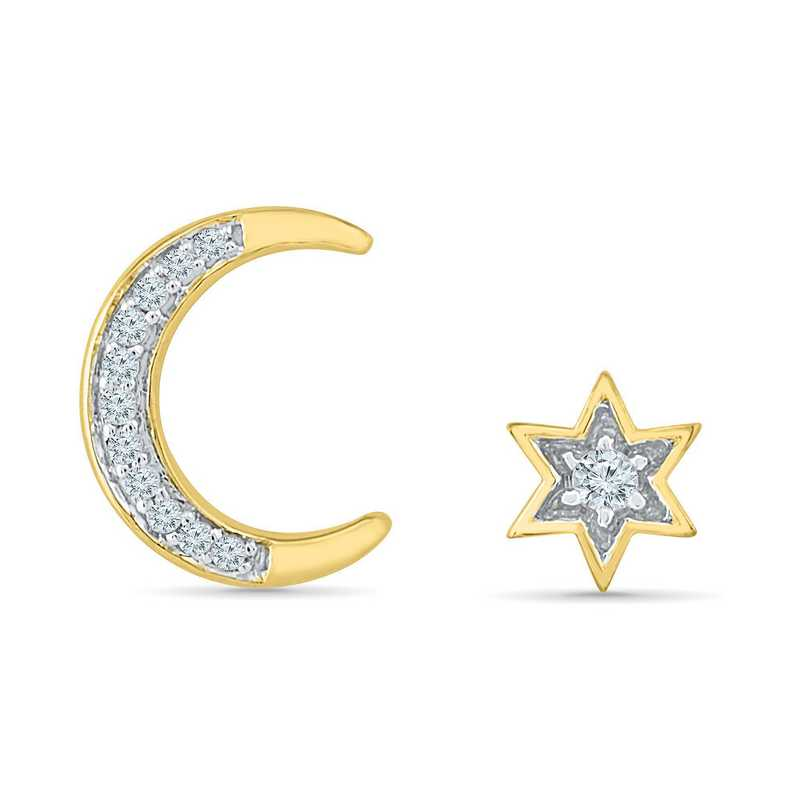 EQ202050AAY: DIA ACCNT MOON AND STARRS EARRINGS