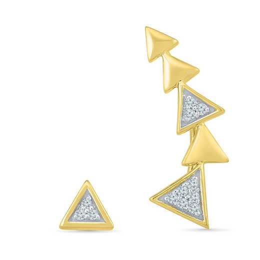 EQ202740BAY: DIA ACCNT TRIANGLE CURVE EARRINGS