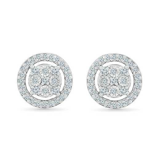 EW127491DTW: 10KT WHITE GOLD WITH 1/5CTTW DIAMOND FASHION EARRING