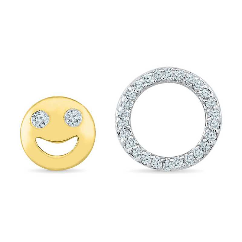 EW201752AAY: DIA ACCNT SMILE CIRCLE STUD EARRINGS