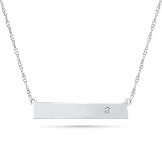 NF079640AAW: DIA ACCNT FAITH BEZEL DIAMOND BAR NECK