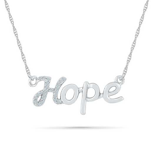 NF079703BAW: DIA ACCNT DIA HOPE NECKLACE
