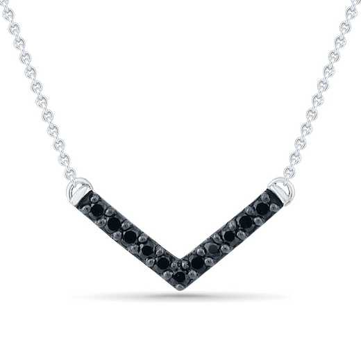 NF201878BAW B: 925 1/10CTTW BLK DIA ARROW NECKLACE