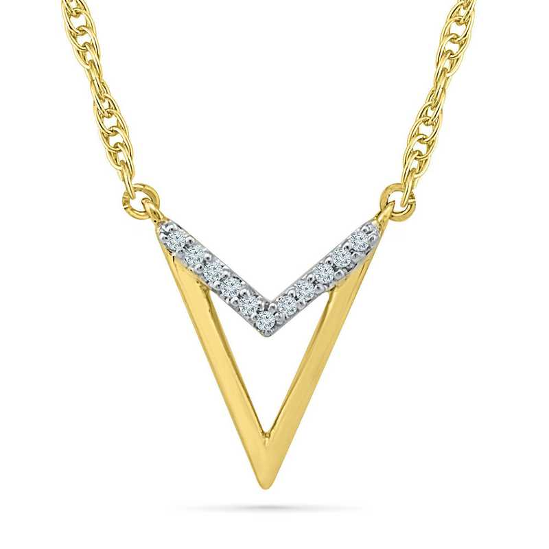 NF203290AAY: DIA ACCNT DIA ARROW NECKLACE